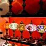 Coffee mosaic lamp