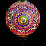 Triple Chain Mosaic Ball Hanging Lamp Size 50-cm