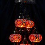 Ottoman  of mosaic chandelier 5 piece