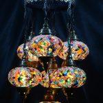Turkish pendant mosaic lamp