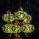 Handmade Turkish 7 piece of Mosaic Chandelier