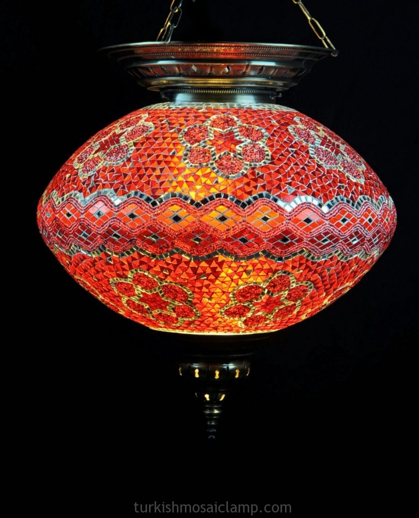 Oval Mosaic Lamps
