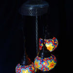 3 Domed Lambader mosaic lamp
