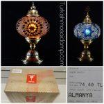 Köln mosaic lamp order