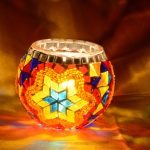 Turkish mosaic candle holder