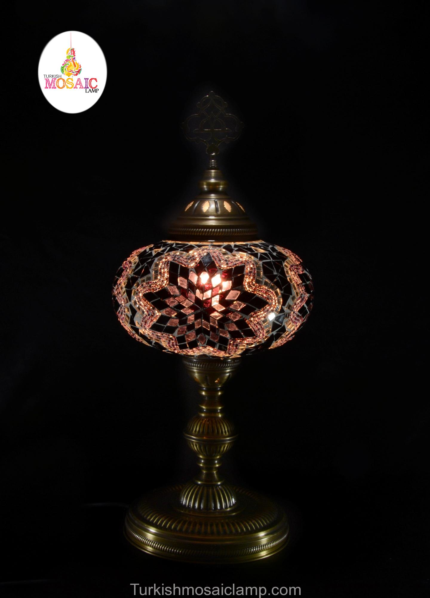 Table mosaic lamp