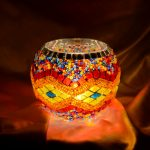Popular Mosaic Glass Candle holders