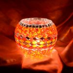 Mosaic candle holder places