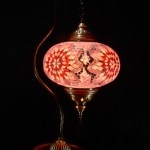 Turkish swan neck mosaic lamp