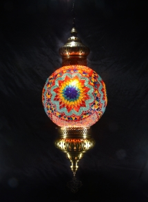 Single Chain 30 cm ball mosaic lamp (2)