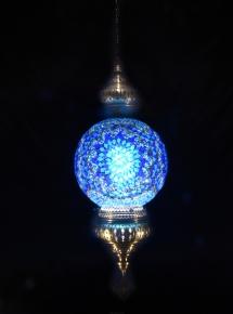 Single Chain 30 cm ball mosaic lamp (3)