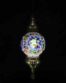 Single Chain 30 cm ball mosaic lamp (4)