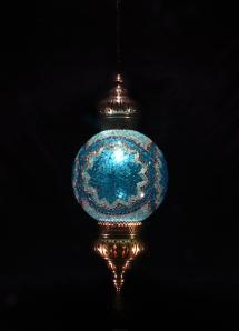 Single Chain 30 cm ball mosaic lamp (6)