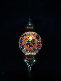 Single Chain 30 cm ball mosaic lamp (7)