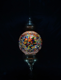 Single Chain 30 cm ball mosaic lamp (8)