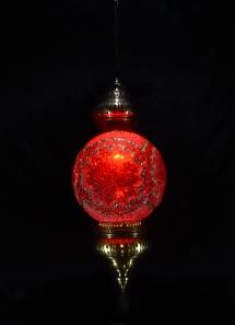 Single Chain 30 cm ball mosaic lamp (9)