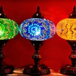 Turkish HandMade Beautiful Mosaic Glass Table Lamp.