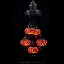 domed sultan mosaic lamp set of 5 size