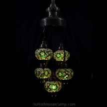 domed sultan mosaic lamp set of 5 size 3