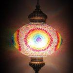 Oval mosaic lamp size 60cm