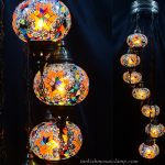 Spiral Mosaic lamp 7 glass ball
