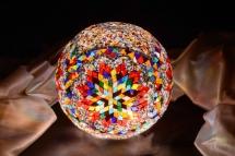 mosaic lamp glass model 30 cm ball (11)
