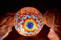 mosaic lamp glass model 30 cm ball (14)