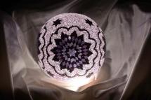 mosaic lamp glass model 30 cm ball (18)