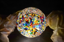 mosaic lamp glass model 30 cm ball (5)