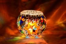 new mosaic candle holder