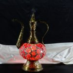 Authentic jug mosaic lamp ottoman mosaic lamp