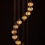 Authentic Turkish handmade natural Mosaic lamp