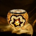 Turkish Big Candle Holder Handmade Mosaic Glass Candle Holder