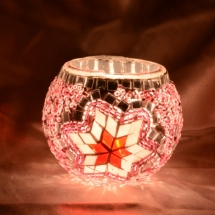 Romantic candle holder Glass candle holder (1)
