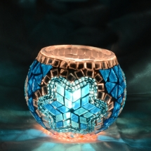 Romantic candle holder Glass candle holder