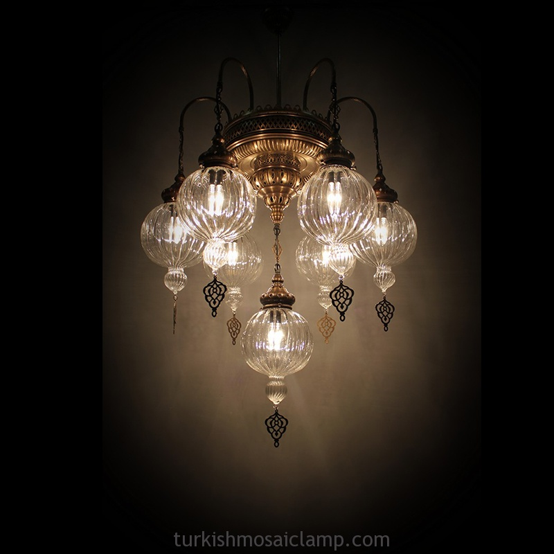 turkish blown glass chandelier