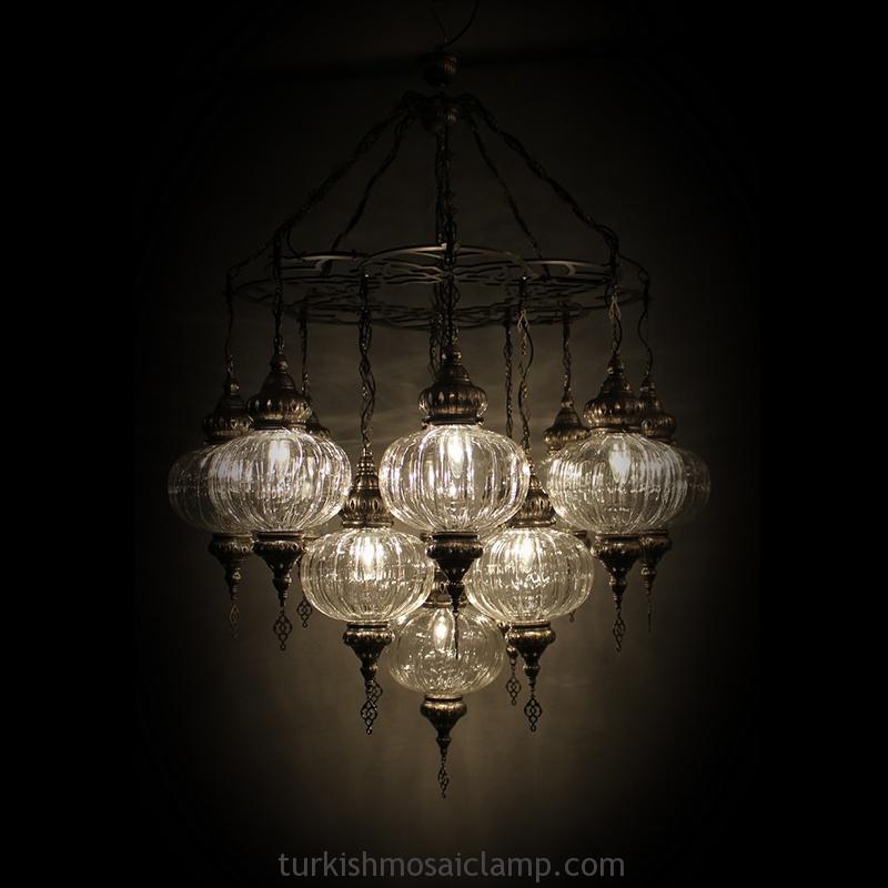 turkish blown glass chandelier - Blown Glass Chandelier