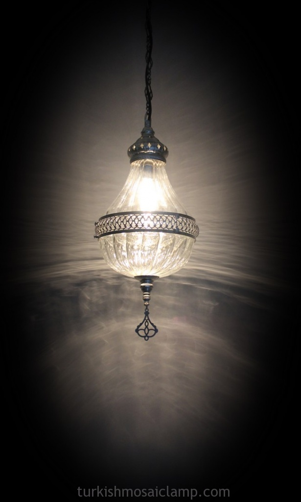 turkish ottoman blown glass chandelier