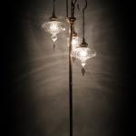 Street blown glass lamp