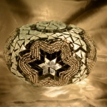 Turkish Mosaic lamp glass model size 3