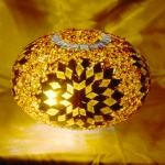 Mosaic lamps glass model size3