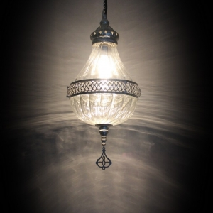 single ottoman pyrex lamp