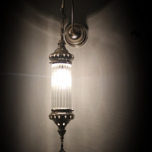 single pyrex wall lamp