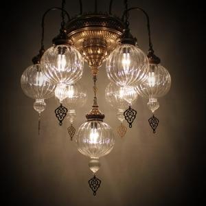 size 6+1 pyrex chandeleir