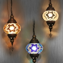 turkish lamps for cafe deco