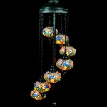 Turkish Mosaic Floor Lamps 7 Glass Ball