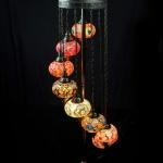 Turkish Mosaic Floor Lamp 7 Glass Ball