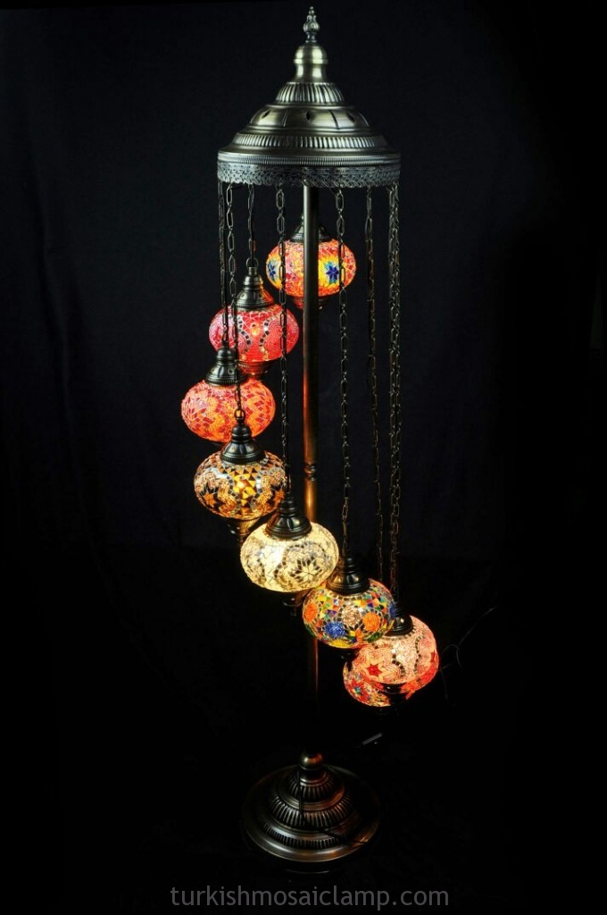 Turkish Mosaic Floor Lamp 7 Glass Ball | Mosaic Lamp, Floor Lamps ...