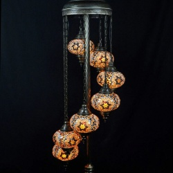 Mosaic lampmosaic lamp exporter mosaic lamp manufacturer turkish floor mosaic lamps 7 glass ball aloadofball Image collections
