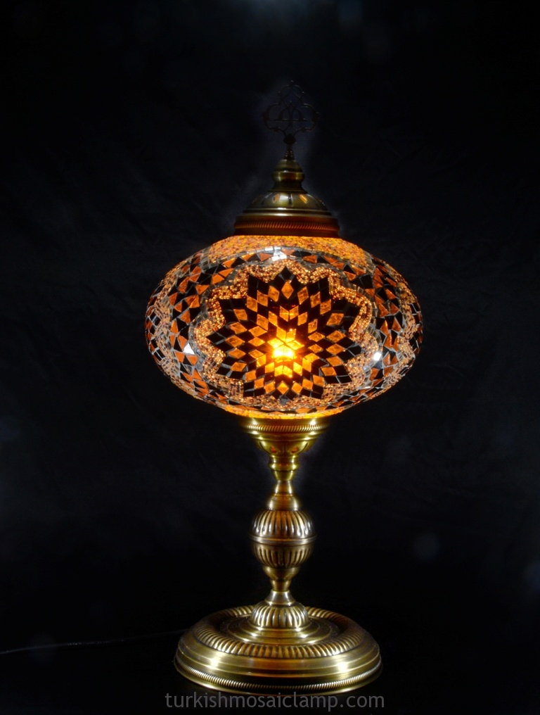 Made In Turkey Pink Blown Glass Table Lamp Mosaic Lamp